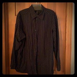 Pinstripe long sleeve shirt